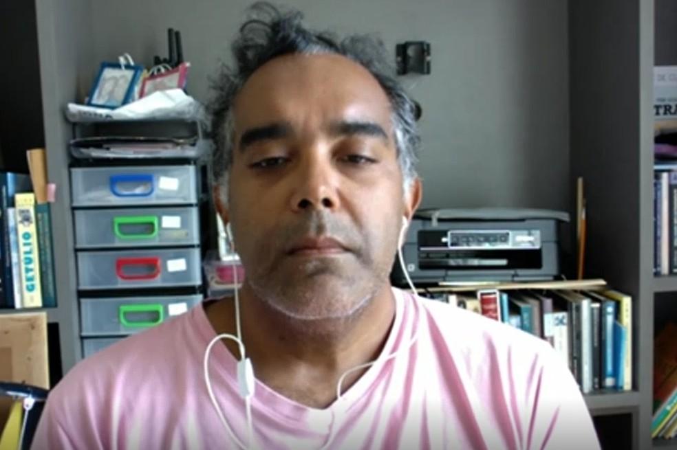 Coordenador do Laboratório Sismológico da UFRN (LabSis), Aderson Nascimento — Foto: Reprodução/Inter TV Cabugi