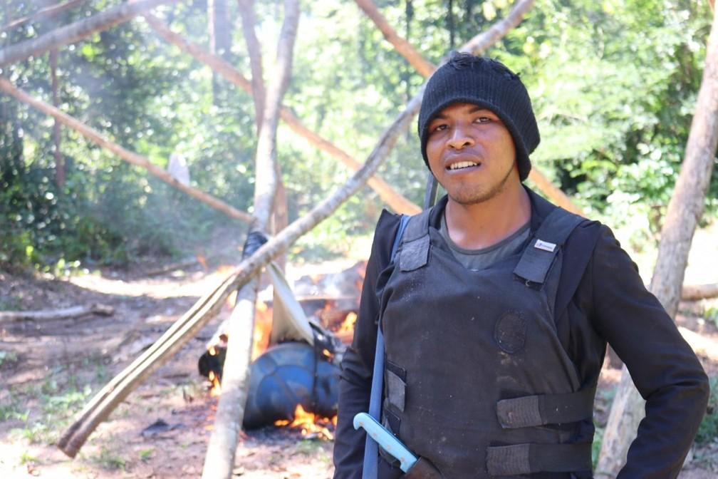 "Paulo Paulino ""Lobo Mau"" Guajajara morreu no local — Foto: Sarah Shenker/Survival International"