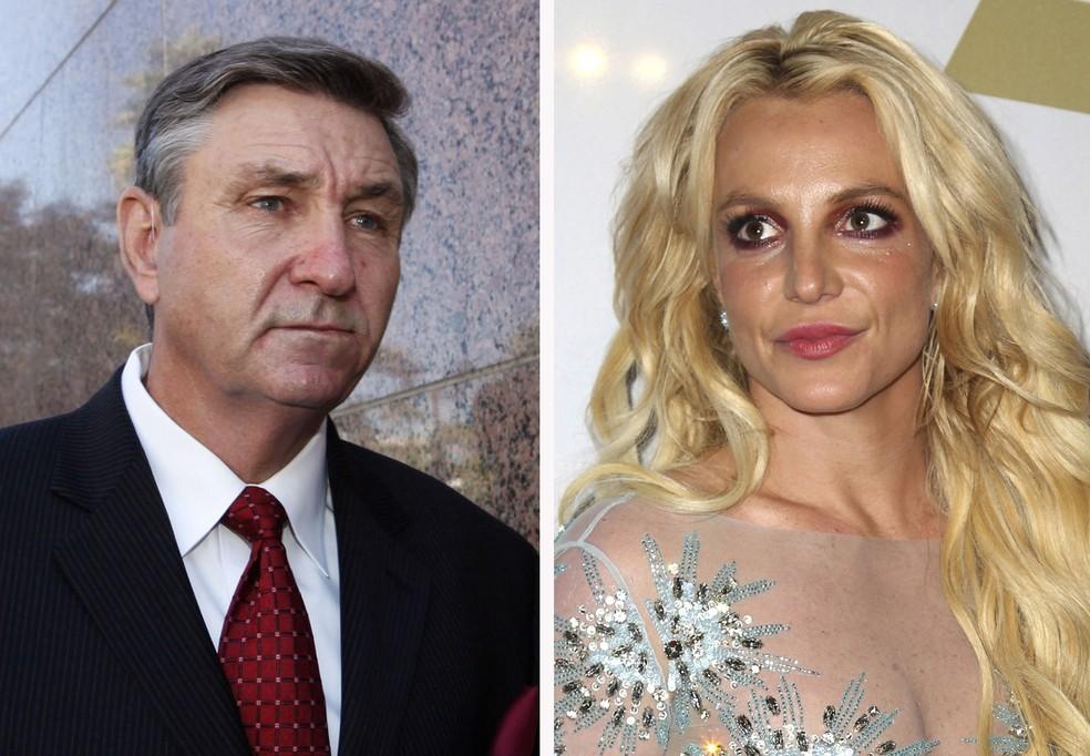 Jamie Spears e Britney Spears — Foto: AP Foto