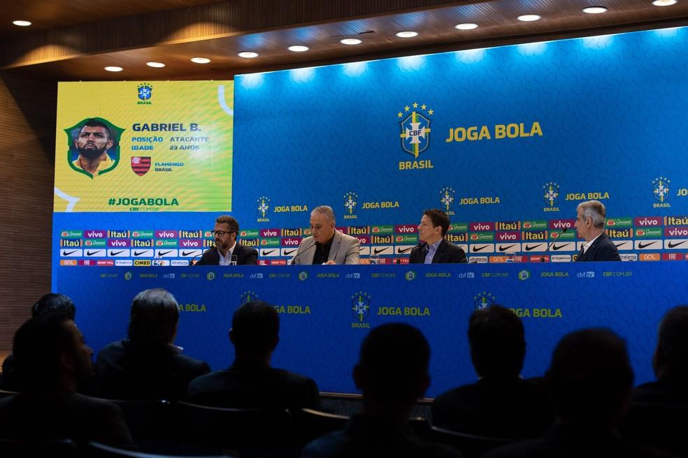 Tite convoca Gabigol, Rodrigo Caio e Santos para amistosos da Seleção contra Senegal e Nigéria — Foto: Pedro Martins / MoWA Press