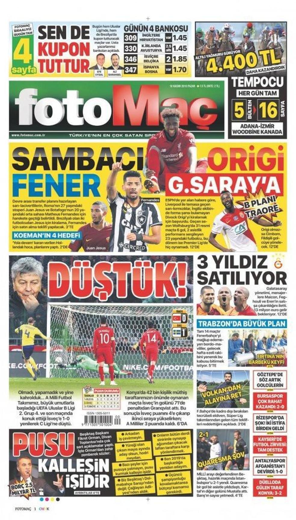 Jornal turco diz que Fenerbahçe vai fazer proposta por Matheus Fernandes — Foto: Divulgação