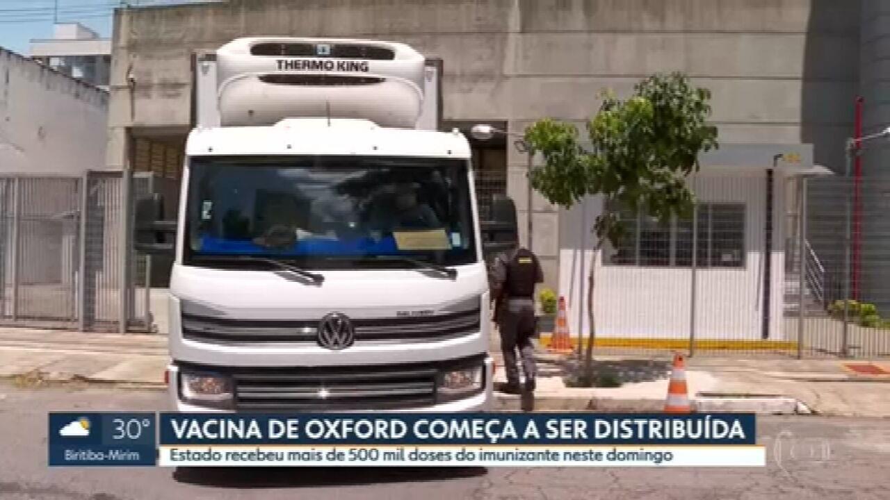 Vacina de Oxford começa a ser distribuída em SP