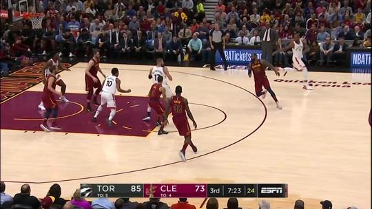 Melhores momentos: Toronto Raptors 129 x 132 Cleveland Cavaliers pela NBA