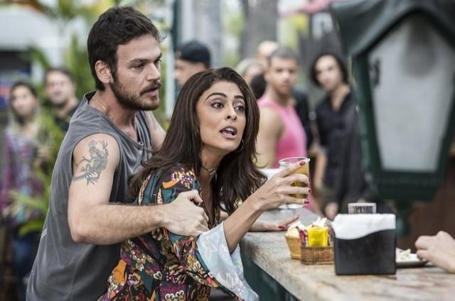 Juliana Paes e Emilio Dantas em 'A força do querer' como Bibi e Rubinho (Foto: Globo)