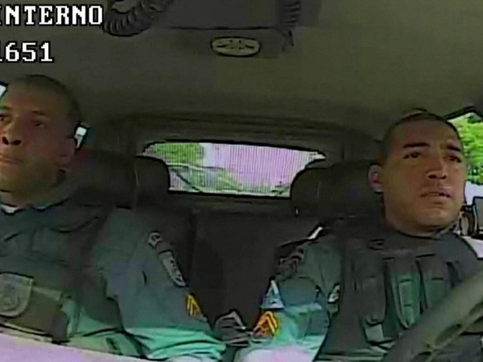 Ex-policiais militares Fábio Magalhães e Vinicius Lima vão cumprir pena (Foto: Divulgação)