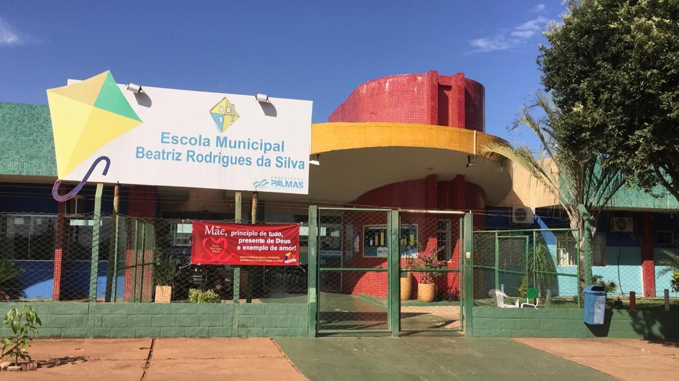 Escola municipal ficou sem aula em Palmas — Foto: Lucas Machado/TV Anhanguera