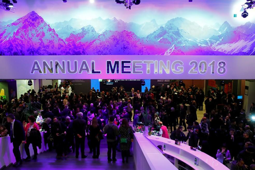Evento recebe participantes do Fórum Econômico Mundial, em Davos, na Suíça (Foto: Reuters/Denis Balibouse)