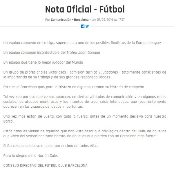 Desaparecido Eliminação Do Barcelona Rende Zoações A Messi E Até Nota Oficial Liga Dos Campeões Ge