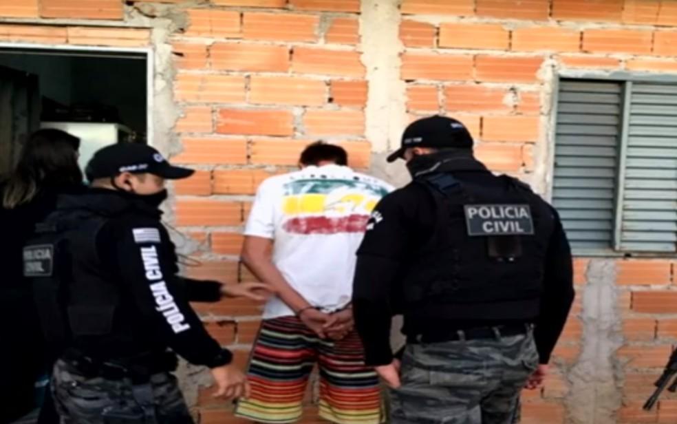 Preso suspeito de estuprar ao menos seis mulheres em Goiânia e Senador Canedo — Foto: Reprodução/TV Anhanguera