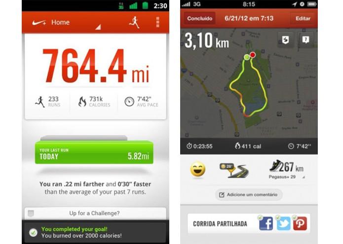 Nike+ Running ajuda a monitorar e a melhorar o desempenho da corrida (Foto: Reprodução/Lívia Dâmaso)
