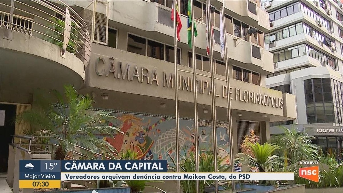 Câmara de Vereadores de Florianópolis arquiva denúncia contra vereador Maikon Costa