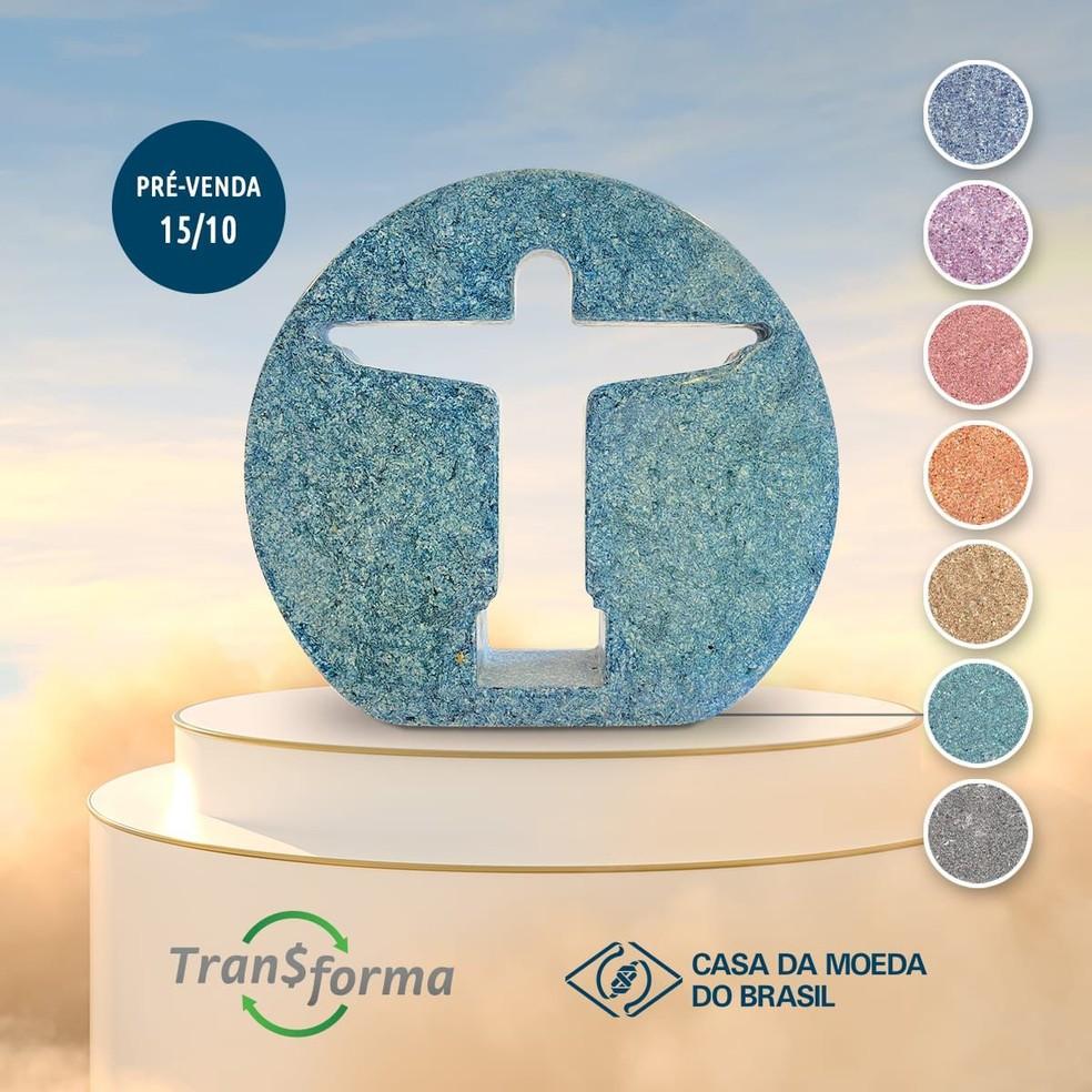Cristo Tran$forma faz parte de iniciativa para reciclar papel-moeda — Foto: Divulgação/Casa da Moeda