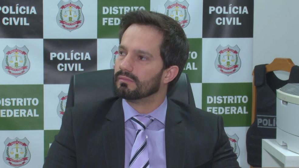 Delegado Fabrício Paiva, chefe da 31ª DP — Foto: TV Globo/Reprodução
