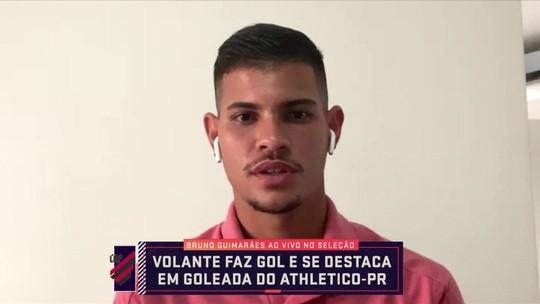 Bruno Guimarães fala sobre o começo do Athletico na Libertadores e conselhos de Lucho