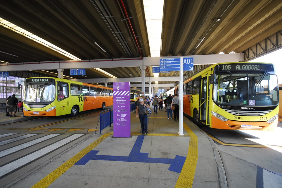 Ônibus do transporte público de Piracicaba — Foto: José Justino Lucente/CCS