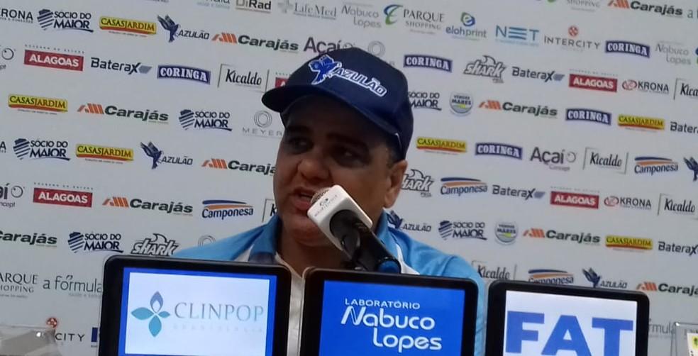 Marcelo Cabo, técnico do CSA — Foto: Leonardo Freire/GloboEsporte.com