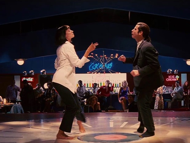 Uma Thurman e John Travolta na cena clássica de Pulp Fiction  (Foto: reprodução)