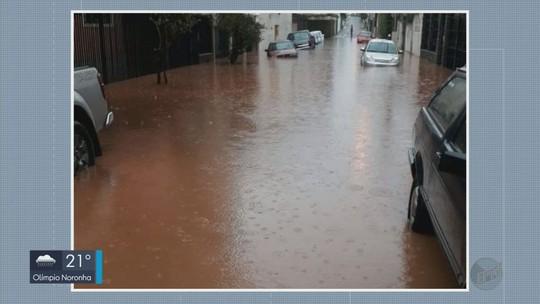 Chuva provoca alagamentos em diversos bairros de Itajubá, MG