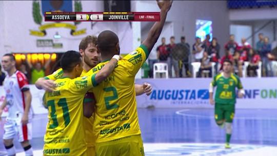 Joinville segura pressão da Assoeva e arranca empate no 1º jogo da final