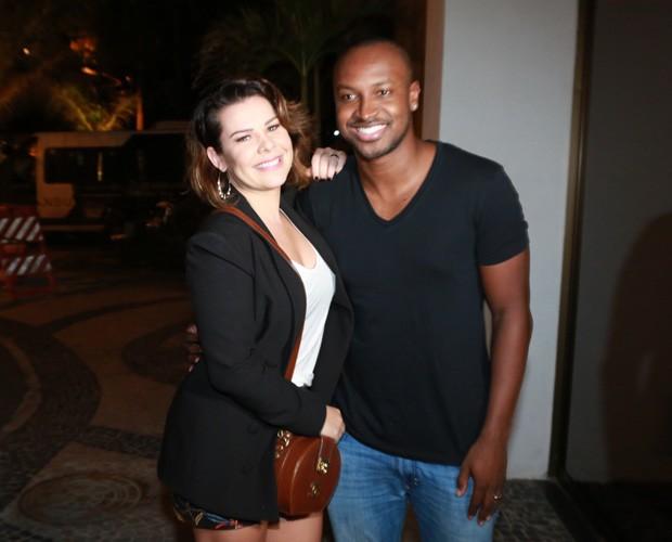Fernanda Souza e Thiaguinho (Foto: Dilson Silva/AgNews)