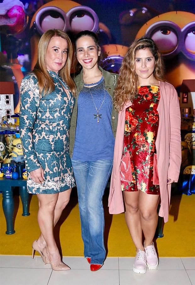 Zilu, Wanessa e Camilla Camargo (Foto: Manuela Scarpa/Brazil News)