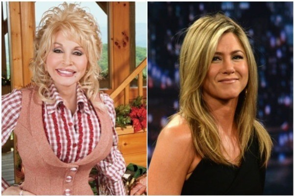 Dolly Parton e Jennifer Aniston (Foto: Instagram / Getty Images)