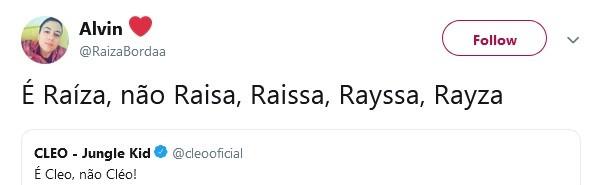 Internautas relatam dificuldade com o nome (Foto: Reprodução / Twitter)
