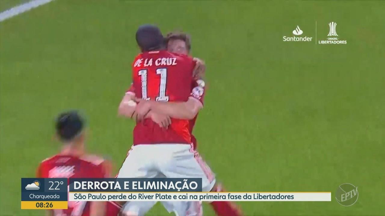 São Paulo perde do River Plate e cai na primeira fase da Libertadores