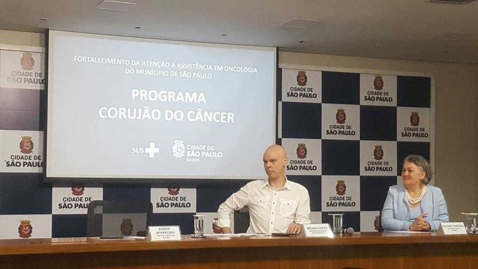 Bruno Covas em coletiva de imprensa nesta terça (21) — Foto: Rodrigo Rodrigues/G1