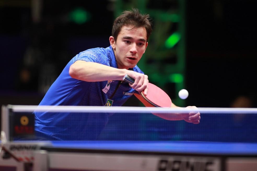 Como defendia o título, posição de Calderano no ranking não será alterada e ele continuará em sétimo — Foto: Divulgação/ITTF