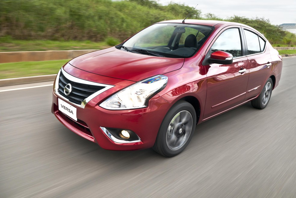 Nissan Versa currently sold in Brazil - Photo: Press Release