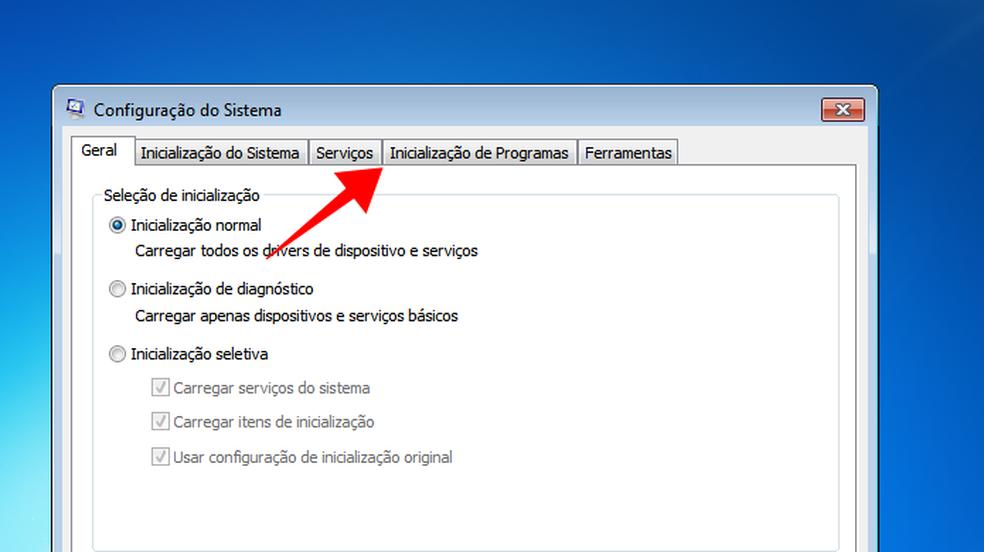 Acesso ao menu de inicialização de programas no Windows — Foto: Reprodução/Paulo Alves