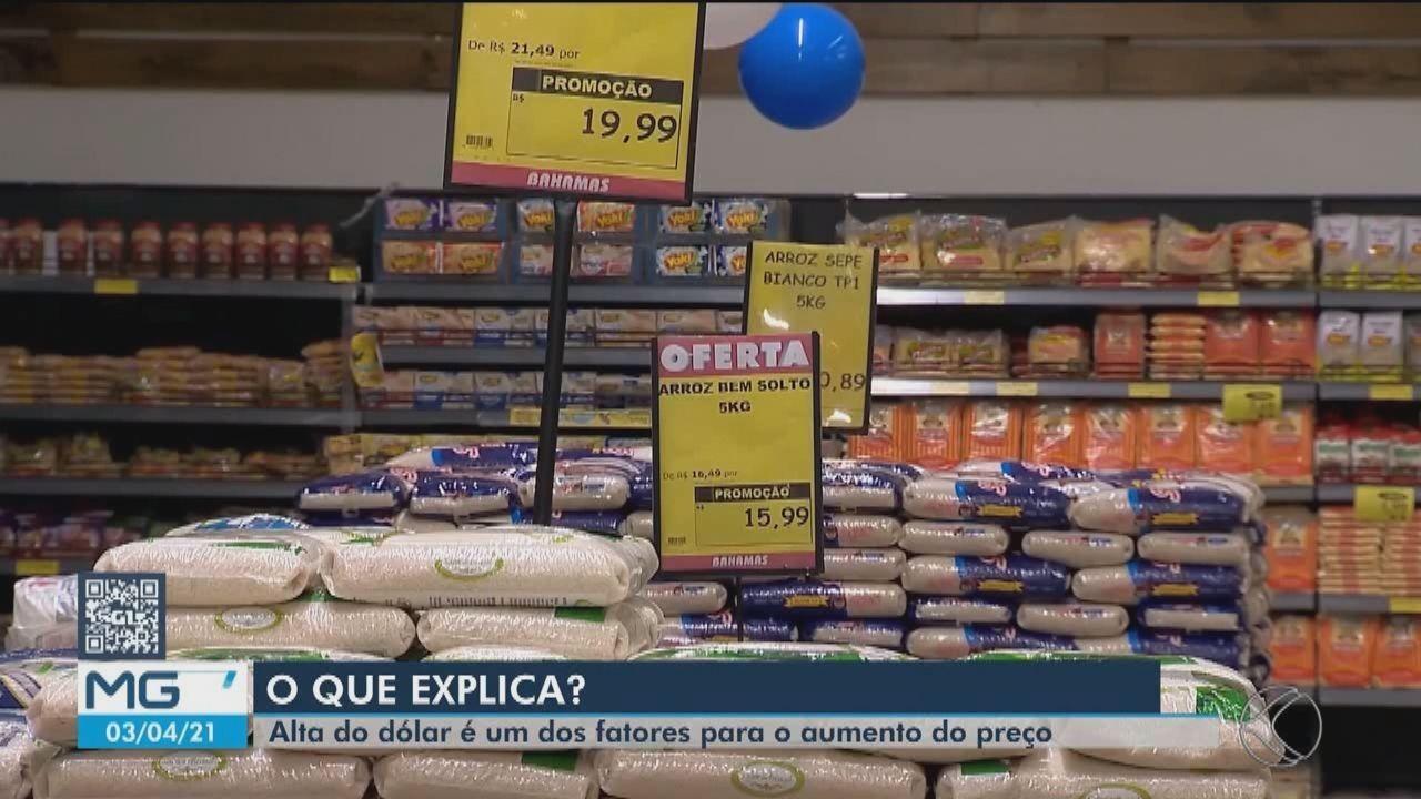 Preço do arroz segue em alta e sem previsão de redução em Juiz de Fora