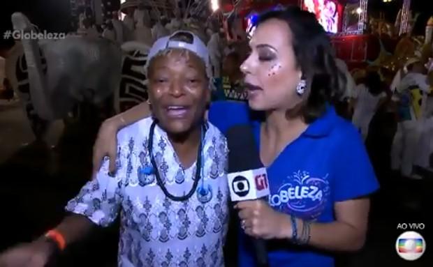 Patricia Falcoski entrevista Martnália (Foto: Divulgação/TV Globo)