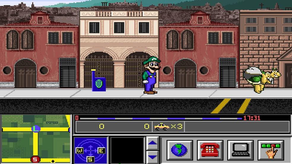 Mario is Missing foi a primeira grande aventura solo de Luigi, e nos PCs o game funciona bem — Foto: Reprodução/Rafael Monteiro