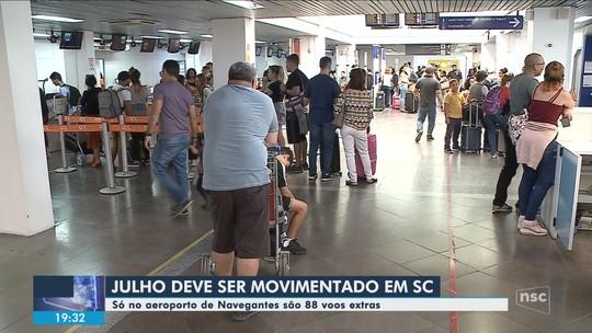 Infraero anuncia voos extras no Aeroporto de Navegantes para férias de julho