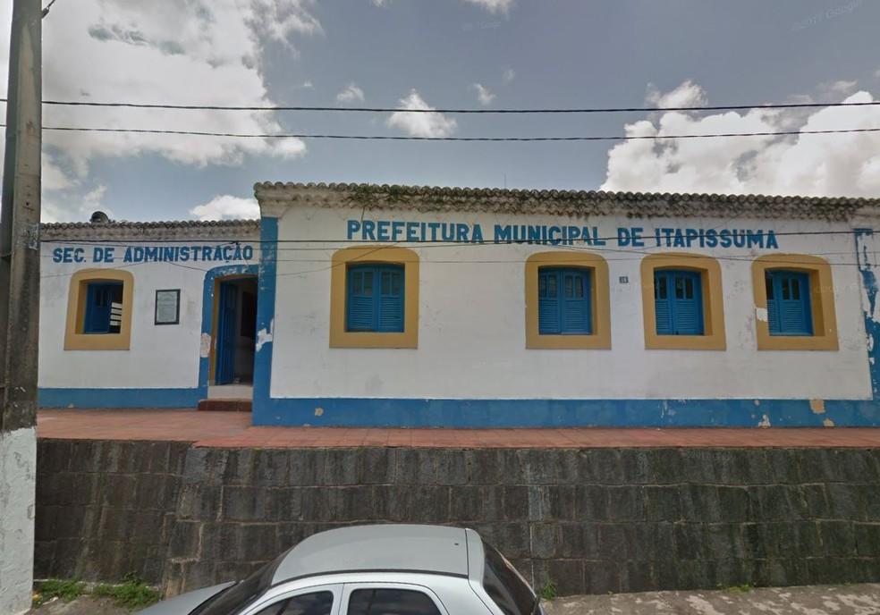 Prefeitura de Itapissuma, cidade localizada no Grande Recife — Foto: Reprodução/Google Street View