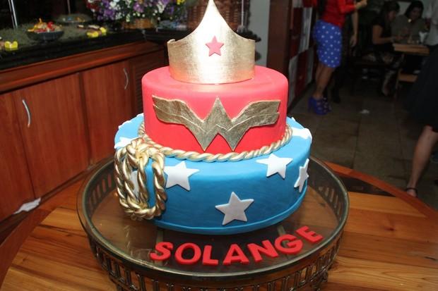 Detalhe do bolo de Solange Gomes (Foto: Thyago Andrade/ PhotoRio News)