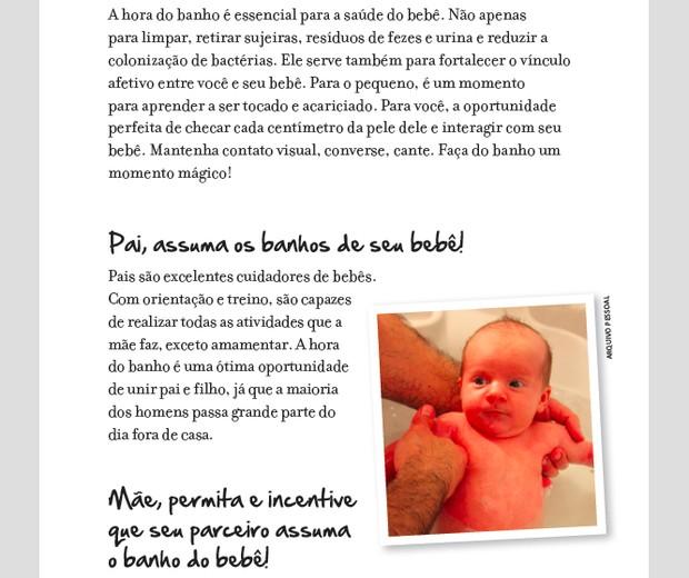 Página do livro Diário de Bordo do Bebê, de Luciana Herrero (Foto: Divulgação)