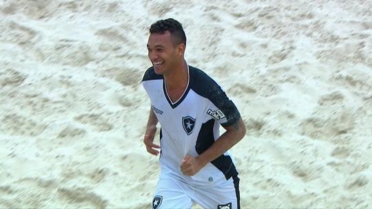 Gols de Botafogo 7 x 5 Sampaio Corrêa pela disputa de terceiro lugar do Brasileiro de futebol de areia