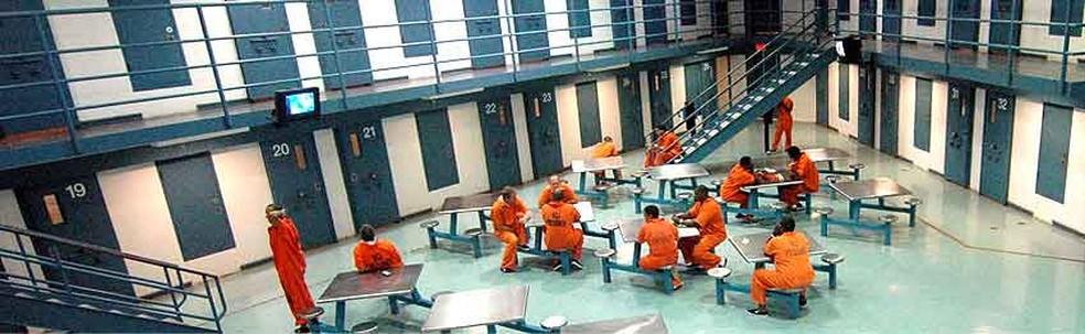 Detentos têm três refeições por dia no Metropolitan Detention Center (Foto: Divulgação)