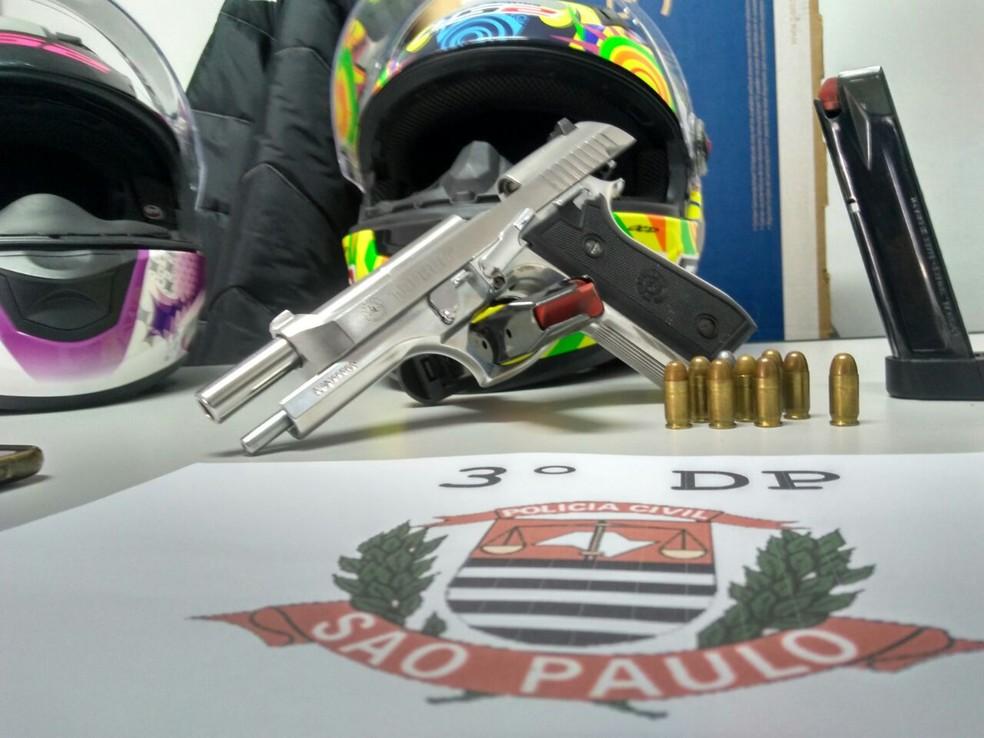 Armas também foram encontradas com suspeitos da Quadrilha da Marcha Ré (Foto: Ralph Siqueira/ TV Diário)