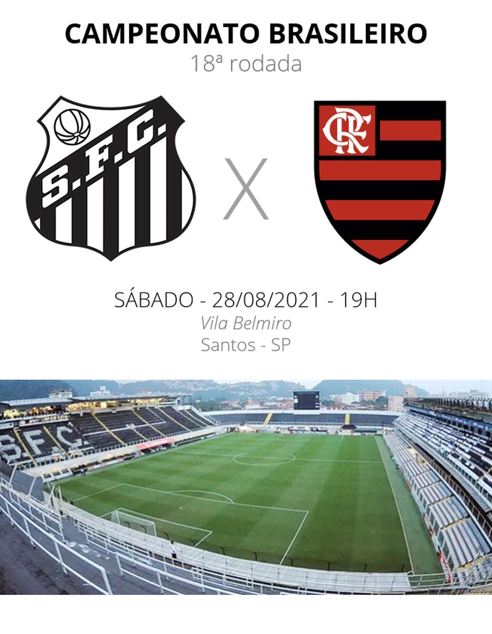 Santos x Flamengo: veja onde assistir, escalações, desfalques e arbitragem | brasileirão série a | ge