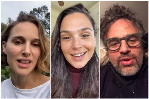Natalie Portman, Gal Gadot e Mark Ruffalo (Foto: Instagram)