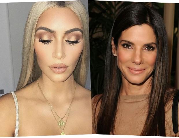 Kim Kardashian e Sandra Bullock (Foto: Reprodução / Instagram)