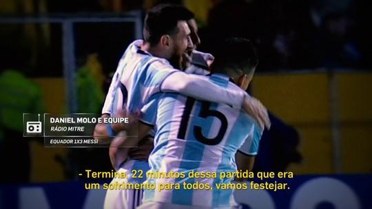 """""""Redação AM"""": narrador excêntrico fica """"louco"""" com hat-trick de Messi"""
