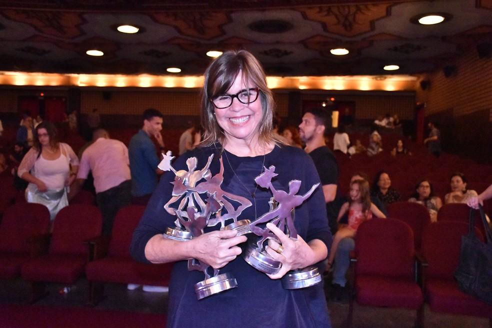 """Diretora do documentário """"Henfil"""", Angela Zoé comemora os prêmios que o filme recebeu no festival (Foto: Felipe Souto Maior/Divulgação)"""