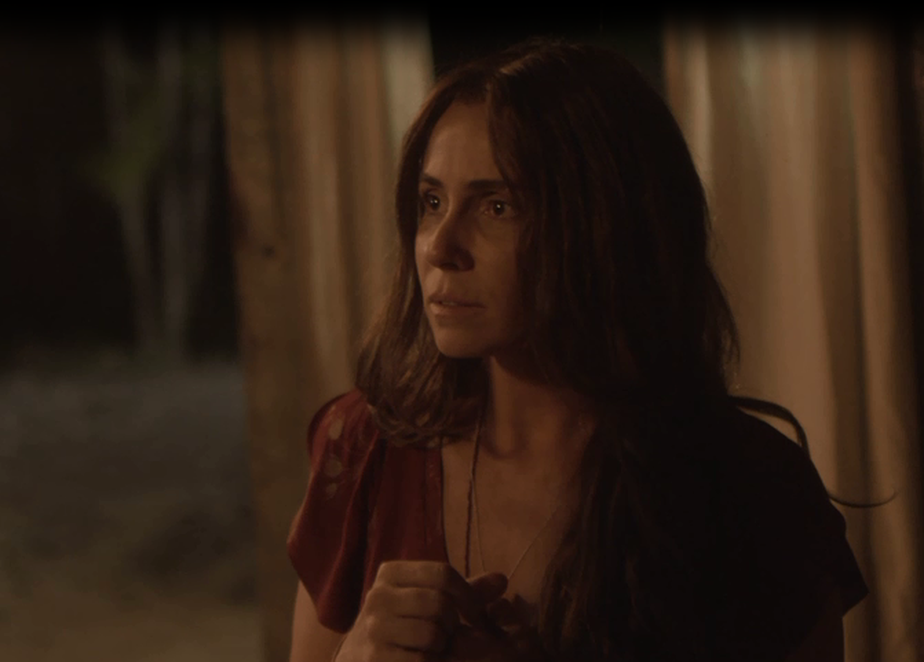 Luzia, personagem de Giovanna Antonelli, é agarrada à força pelo ex-marido
