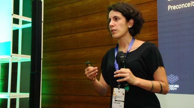 Rosine Kadamani, fundadora da Blockchain Academy  (Foto: Rafael Jota)