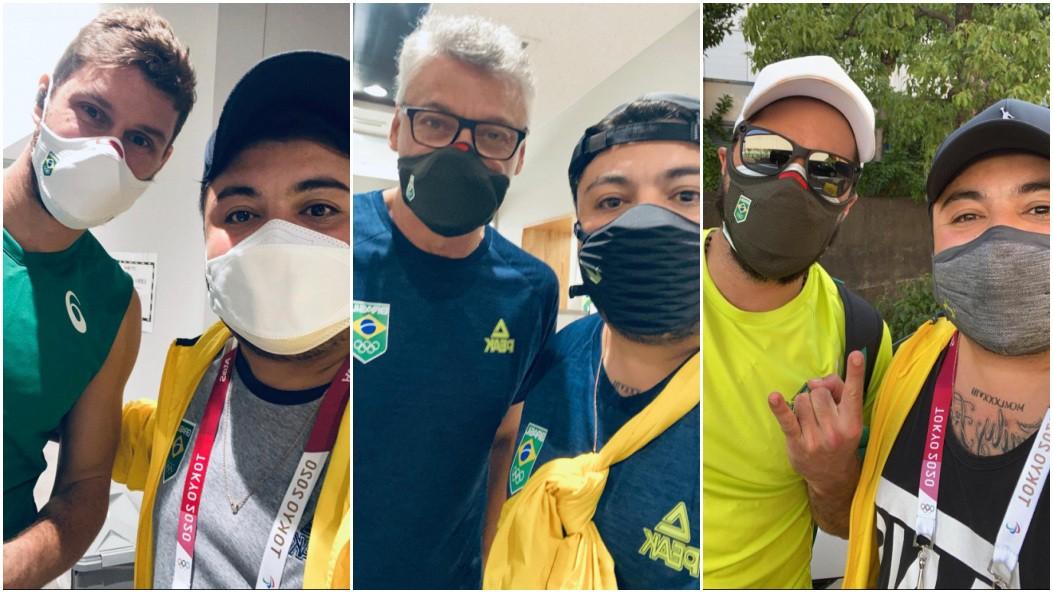 Jovem selecionado para trabalhar com delegação brasileira nas Olimpíadas realiza sonho de conhecer atletas: 'Zerei a vida'